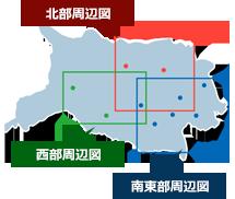 青梅市図書館の地図